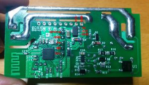 Back view of the Sonoff board with pin descriptions