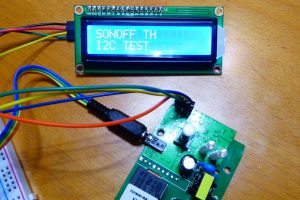 I2C LED display with the Sonoff TH10/TH16