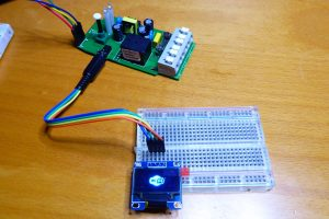 An I2C OLED display with the Sonoff TH10/TH16