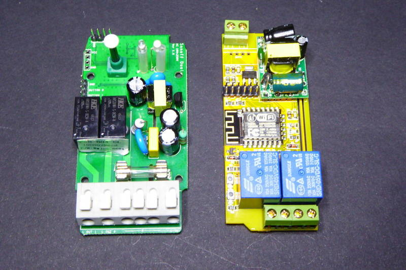 Esp8266 Multi Relay Boards Sonoff Dual And Electrodragon Tinkerman The 8way Board Face To They Are Both Two With An