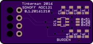 Sonoff ADC121 OSHPark render
