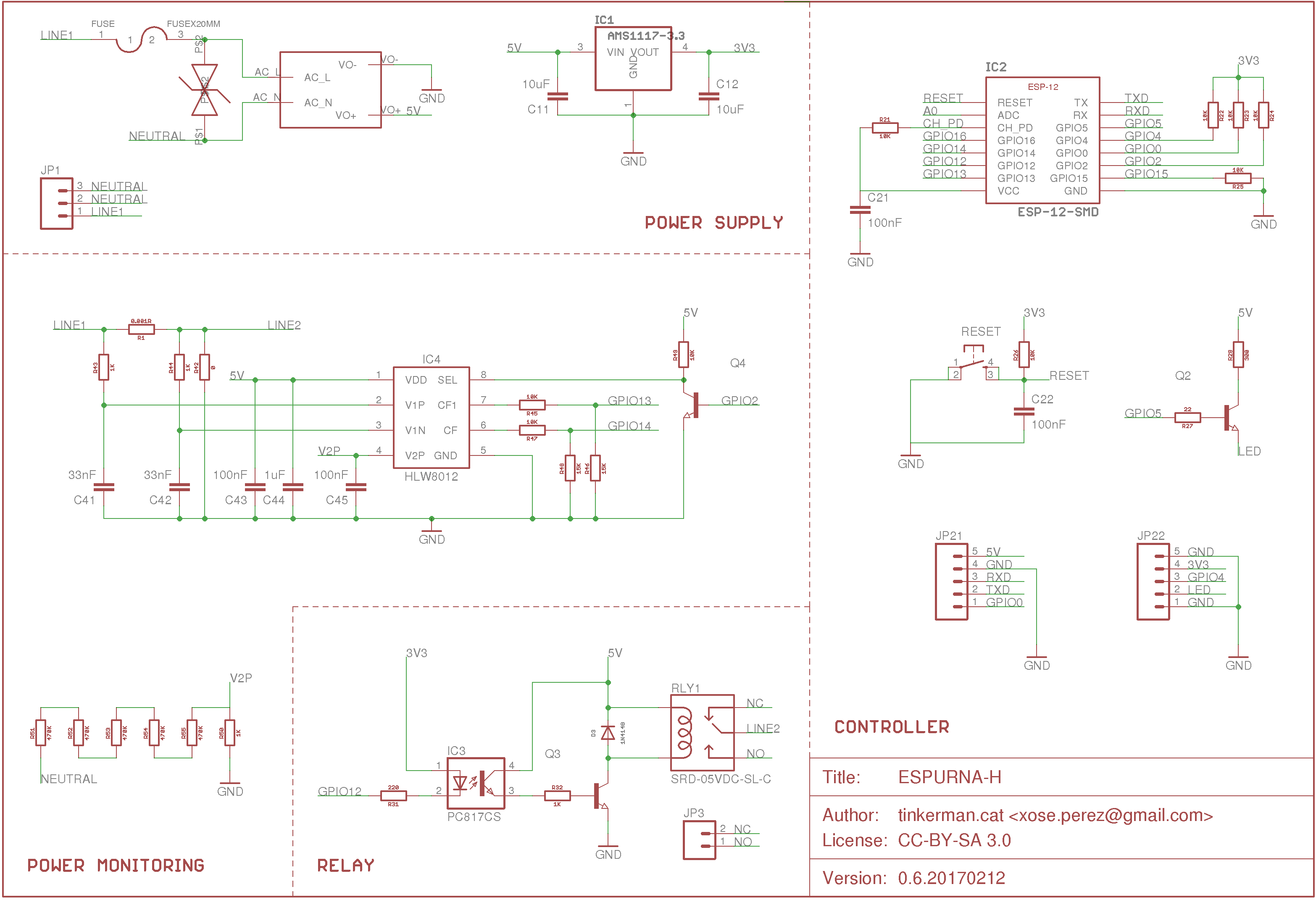 The Espurna Board A Smart Wall Switch With Power Monitoring Tinkerman Monitor Schematic Open Source Hardware